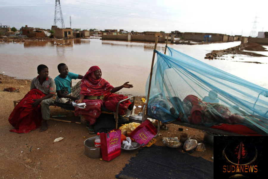 Sudan's floods have left many families homeless, particularly in the region around Khartoum, the capital. Photograph: Abd Raouf/AP